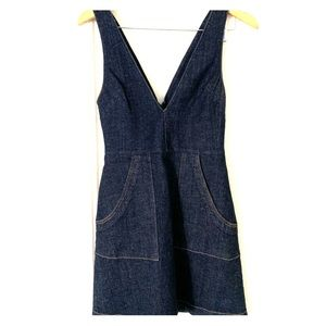 Reformation Denim Mini Dress with Pockets